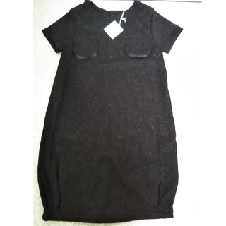 パタシュー(PATACHOU)のパタシュー 黒色ラメワンピース 130(ワンピース)