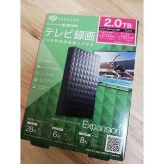 エクスパンション(EXPANSION)の新品🌸SEAGATEポータブルハードディスクSGP-MX020UBK ブラック(PC周辺機器)