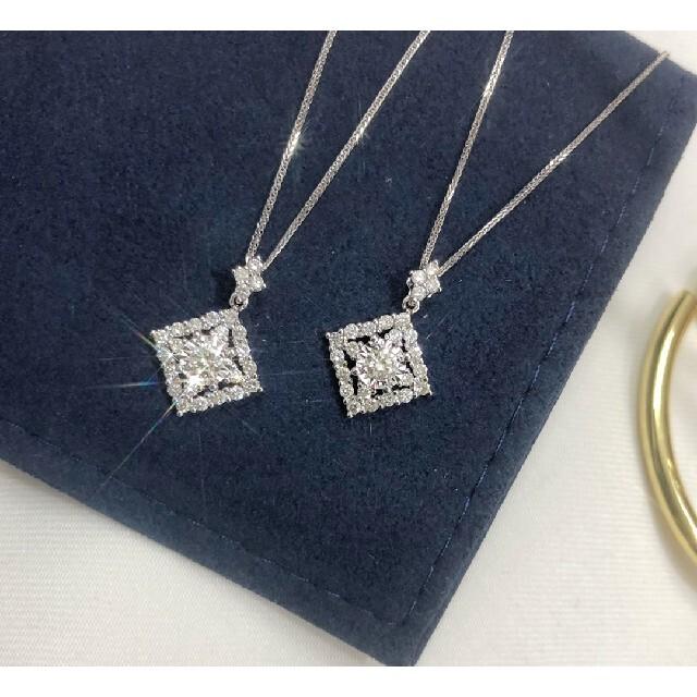 天然ダイヤモンドネックレス0.34ct k18 レディースのアクセサリー(ネックレス)の商品写真