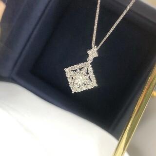 天然ダイヤモンドネックレス0.34ct k18