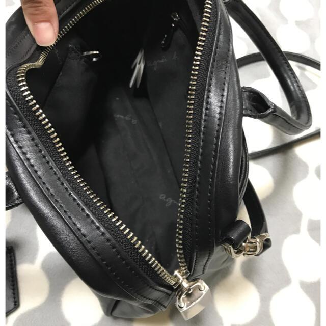 agnes b.(アニエスベー)のアニエス・ベー 2wayショルダーバッグ アニエスベー 黒 レザー レディースのバッグ(ショルダーバッグ)の商品写真