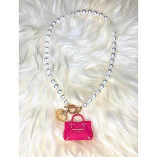 ハンドメイド Barbie bag パールネックレス♪ ⑥(ネックレス)