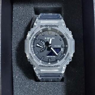 ジーショック(G-SHOCK)の【新品未使用】GA-2100SKE-7AJFカシオーク スケルトン(腕時計(デジタル))
