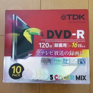 ティーディーケイ(TDK)のTDK DVD-R 120分 10PACK(その他)