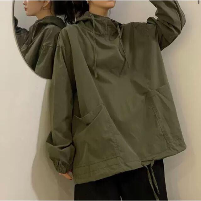 新品 / 春物 フーディー アノラックパーカー風 トップス ポケット付 レディースのトップス(パーカー)の商品写真