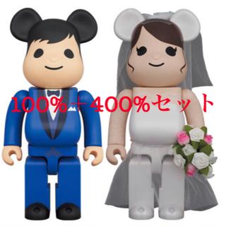 メディコムトイ(MEDICOM TOY)のBE@RBRICK グリーティング結婚 4 PLUS 100%、400%(その他)