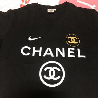 シャネルxナイキ 未使用 Tシャツ ノベルティ ブラック L