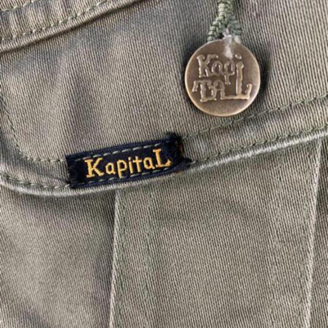 KAPITAL(キャピタル)のKAPITAL ビンテージサテン ボーン ジャケット 骨 刺繍 カーキ メンズのジャケット/アウター(Gジャン/デニムジャケット)の商品写真