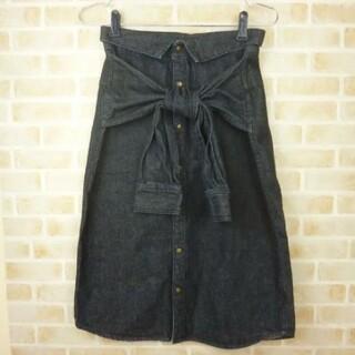 ミラオーウェン(Mila Owen)のミラオーウェン デニムスカート(ひざ丈スカート)
