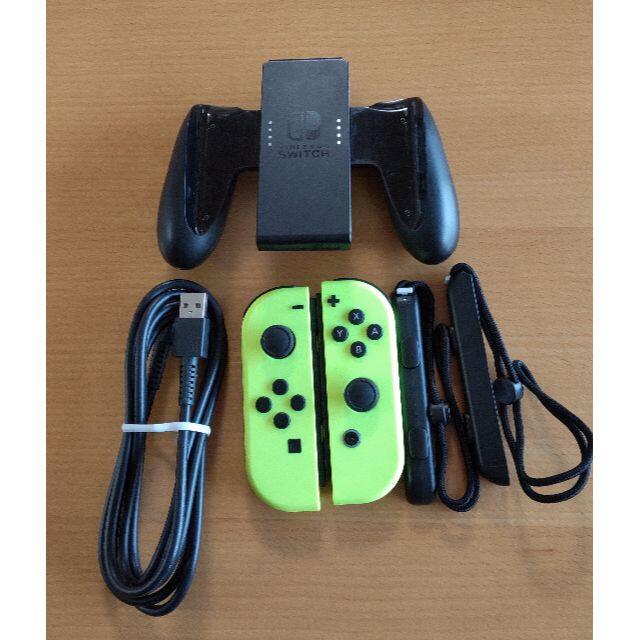 Nintendo Switch(ニンテンドースイッチ)のスイッチ ジョイコン ネオンイエロー左右 エンタメ/ホビーのゲームソフト/ゲーム機本体(その他)の商品写真