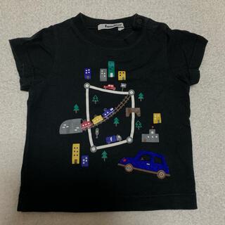 familiar - Tシャツ 半袖 黒 車 電車 ファミリア 男の子 80 カラフル