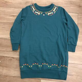 Design Tshirts Store graniph - グラニフ ちびまる子ちゃん 刺繍ワンピース