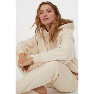 H&M - H&M コットン スウェットパンツ  クリーム 綿100%