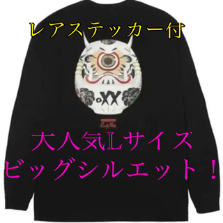 Candy Foxx 飴狐 キャンディフォックス 黒達磨ロンT Lサイズ