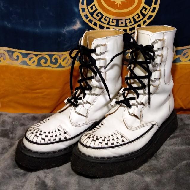 GEORGE COX(ジョージコックス)のレア★GEORGE COX ジョージコックス ラバーソール 6ホール Dリング★ メンズの靴/シューズ(ブーツ)の商品写真