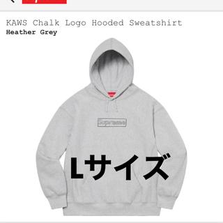 Supreme - KAWS Chalk Logo Hooded Sweatshirt Lサイズ