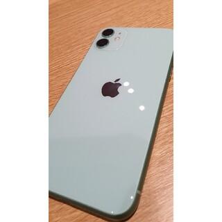 iPhone - iphone11 green 128gb 極美品(バッテリー97%) アイフォン