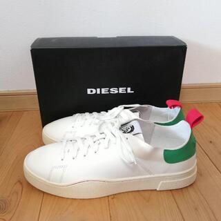 DIESEL - 新品未使用 DIESEL 白スニーカー メンズ ホワイト