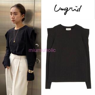 Ungrid - 新品定価¥6050‼️ Ungrid パワショルロングスリ-ブTee Tシャツ