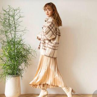 SeaRoomlynn - シールームリン    woolチェックミディアムコート モカ