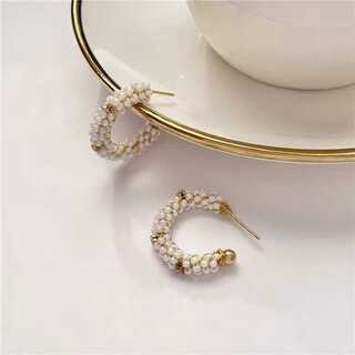 アーバンリサーチ(URBAN RESEARCH)の#566 import pierce : vitage C pearl gold(ピアス)