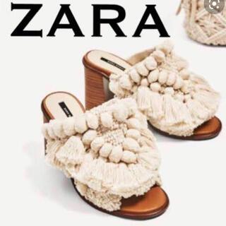 ZARA - ZARA タッセルサボ