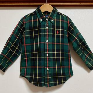 Ralph Lauren - ラルフローレン シャツ 90 チェックシャツ ボタンダウン 長袖 入園式