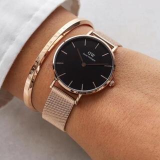 ダニエルウェリントン(Daniel Wellington)の新品未使用 時計 バングル セット ダニエルウェリントン ローズゴールド(腕時計)