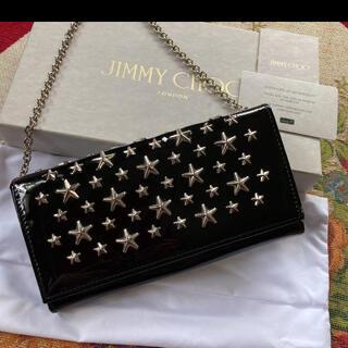 JIMMY CHOO - JIMMY CHOOジミーチュウ チェーン付きエナメルウォレット