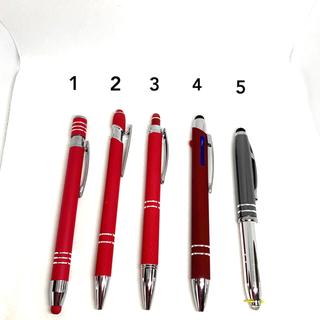 新品色々ボールペン5本(店名・企業名入り)タッチペン機能付き