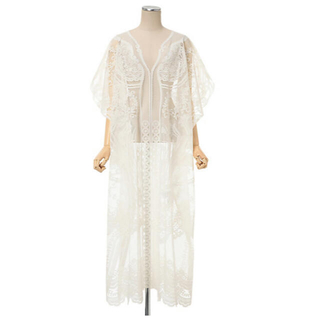 mame - mamekurogouchi Curtain Lace Dress