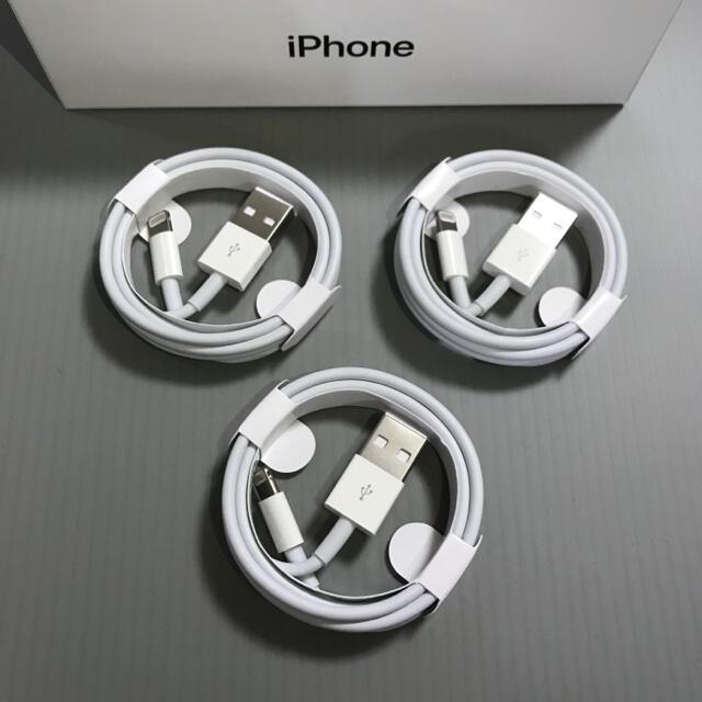 iPhone(アイフォーン)の iPhone 充電器 充電ケーブル コード lightning cable スマホ/家電/カメラのスマートフォン/携帯電話(バッテリー/充電器)の商品写真