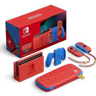 Nintendo Switch - Nintendo Switch マリオレッド×ブルー セット ゲオ店舗印あり