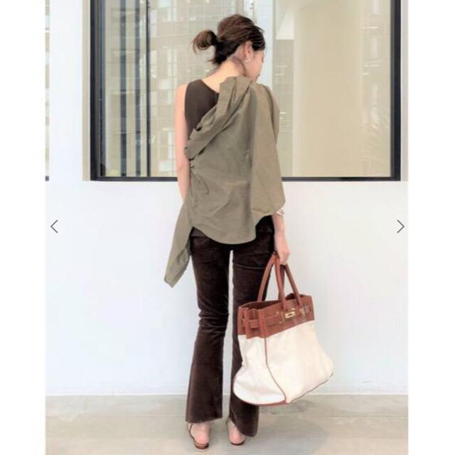 L'Appartement DEUXIEME CLASSE(アパルトモンドゥーズィエムクラス)のアパルトモン別注Sita paranticaキャンバス×レザートートバッグ レディースのバッグ(トートバッグ)の商品写真