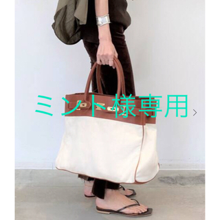L'Appartement DEUXIEME CLASSE - アパルトモン別注Sita paranticaキャンバス×レザートートバッグ