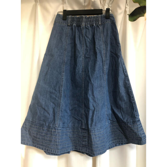 axes femme(アクシーズファム)の⑧⑤⑧ 前釦刺繍入ミドルスカート axes femme 1つボタン取れ レディースのスカート(ロングスカート)の商品写真