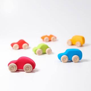 ボーネルンド(BorneLund)のグリムス 6台の車、カラー 6 Cars, colored Wooden(ミニカー)