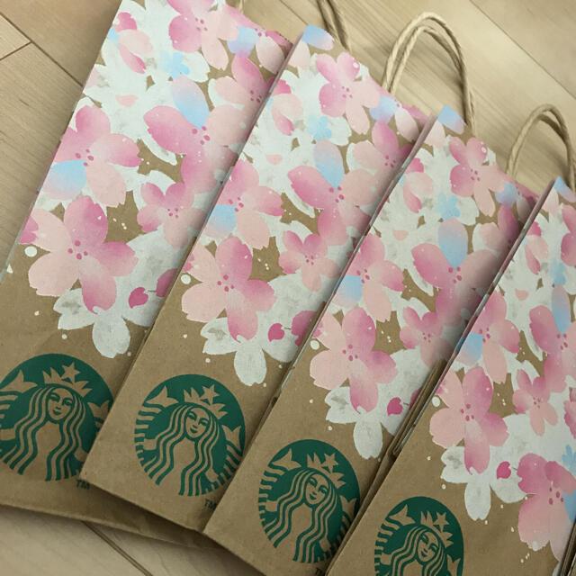 Starbucks Coffee(スターバックスコーヒー)のクマ スターバックス 紙袋 新品同様 5枚セット ショップ袋 レディースのバッグ(ショップ袋)の商品写真
