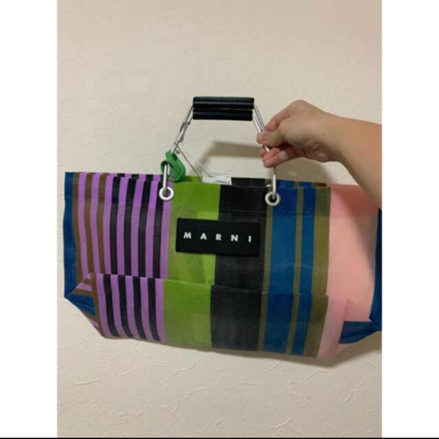 Marni(マルニ)の新品 MARNI マルニ フラワー カフェ ストライプトートバッグ ミニー レディースのバッグ(トートバッグ)の商品写真