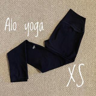 ルルレモン(lululemon)のalo yoga レギンス XS ブラック(ヨガ)