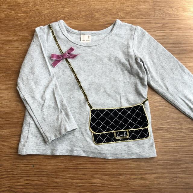 petit main(プティマイン)のプティマイン バッグモチーフ ロンT 長袖 カットソー キッズ/ベビー/マタニティのキッズ服女の子用(90cm~)(Tシャツ/カットソー)の商品写真