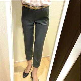 アオキ(AOKI)の【アキコ様専用】スーツ クロップドパンツ グレー(クロップドパンツ)