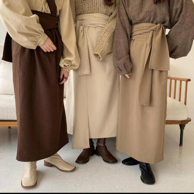 lawgy original wrap skirt brown レディースのスカート(ロングスカート)の商品写真