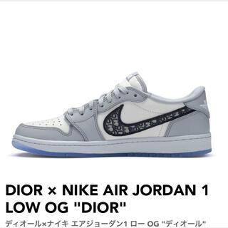 ディオール(Dior)のDior ×air jordan low(スニーカー)