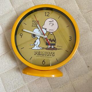 ピーナッツ(PEANUTS)のスヌーピー  チャーリーブラウン 時計(置時計)