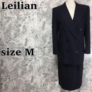 レリアン(leilian)のカシミヤ混 レリアン ダブル ジャケット ロング タイトスカート セットスーツ(スーツ)