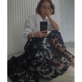 アメリヴィンテージ(Ameri VINTAGE)のameri vintage LACE LAYERED SHIRT DRESS(ロングワンピース/マキシワンピース)