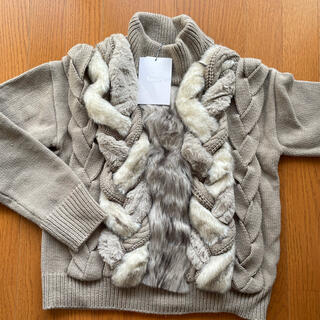 Ameri VINTAGE - タグ付き 新品未使用 FUR BRAID CABLE KNIT