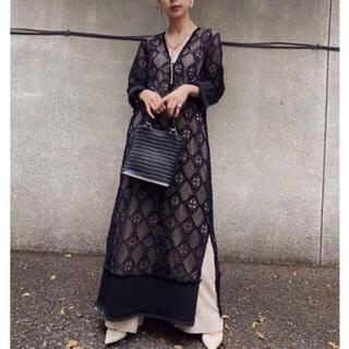 アメリヴィンテージ(Ameri VINTAGE)のアメリ Ameri gemetry lace dress(ロングワンピース/マキシワンピース)
