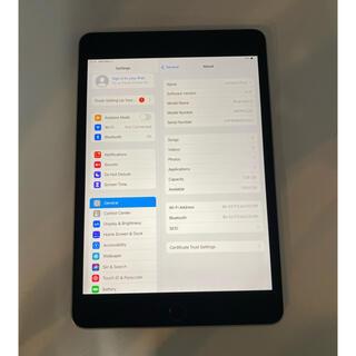 iPad - 中古 Wifi版 ipad mini 4 スペックグレー128GB